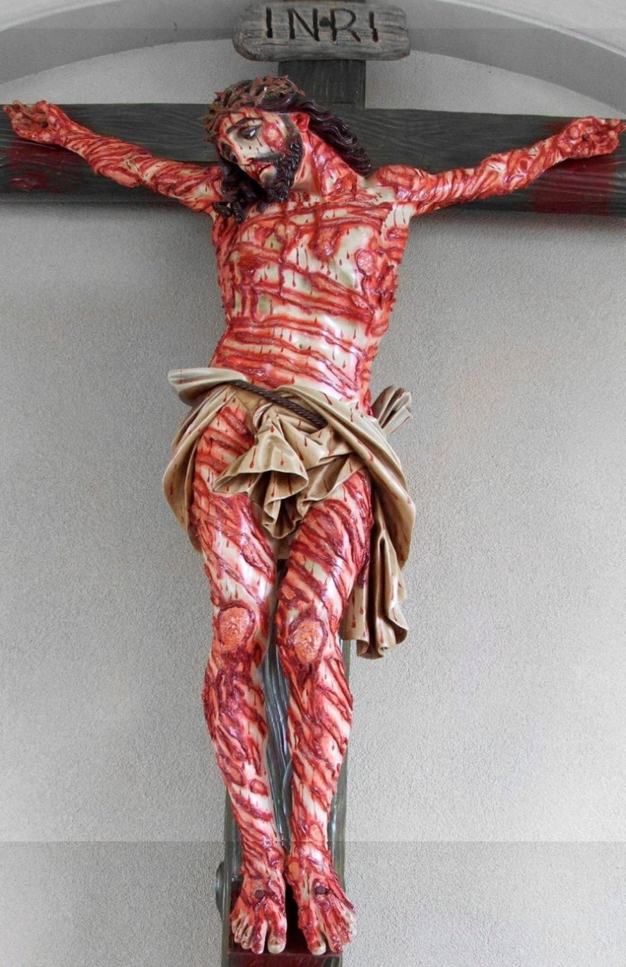 Image result for christ crucified bloody images