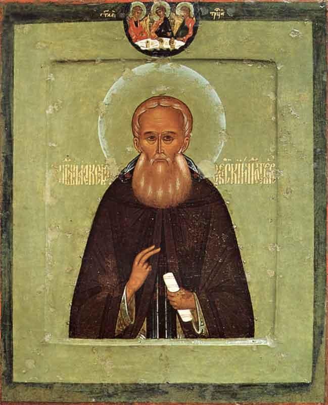 Икона святого преподобного Александра Свирского